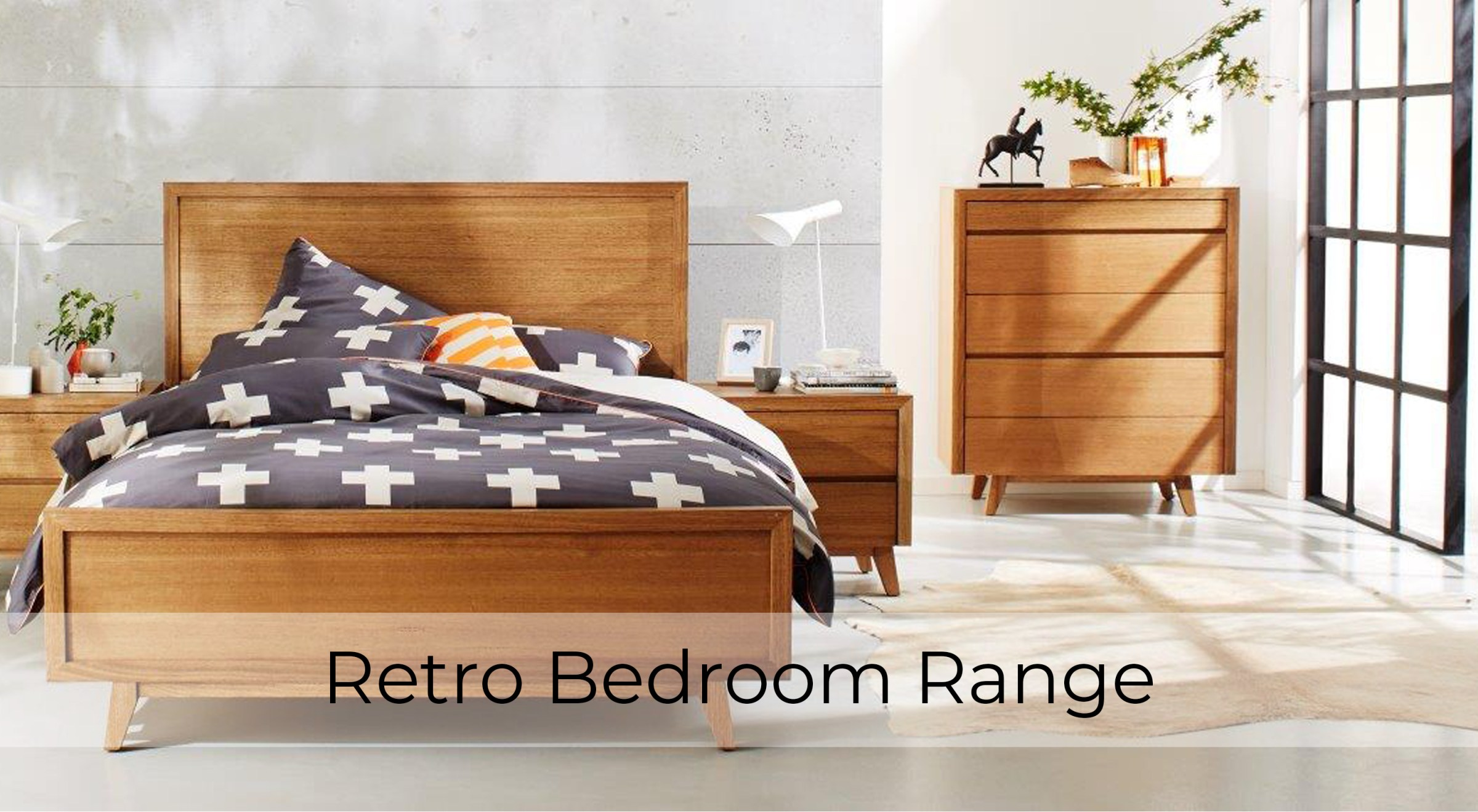 Retro Tasmanian Oak Bedroom Furniture by Astra Furniture
