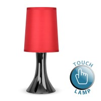 Trumpet Touch Table Lamp Black Chrome / Red - Astral ...