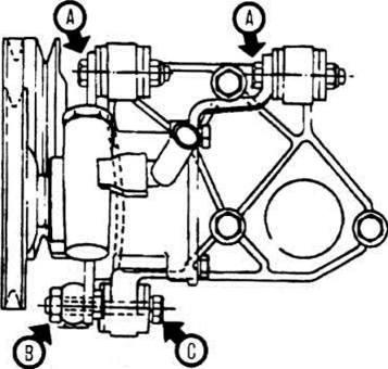 Замена ремня насоса гидроусилителя Опель Астра Opel Astra