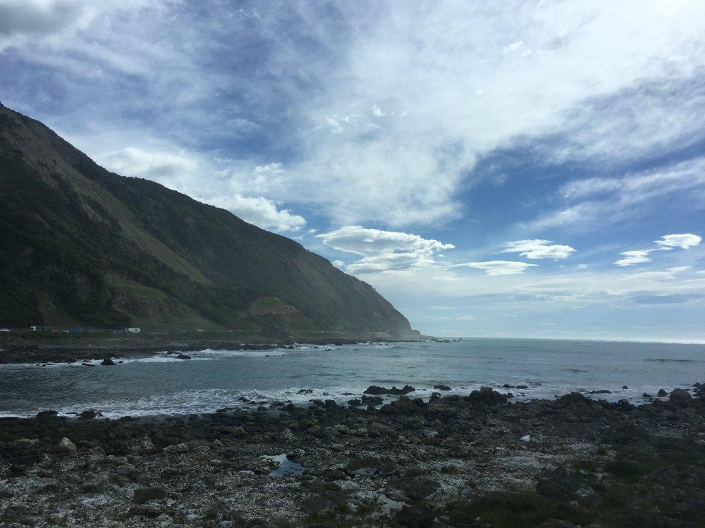 The mountains of the Seaward Kaikoura Range dropping to the sea