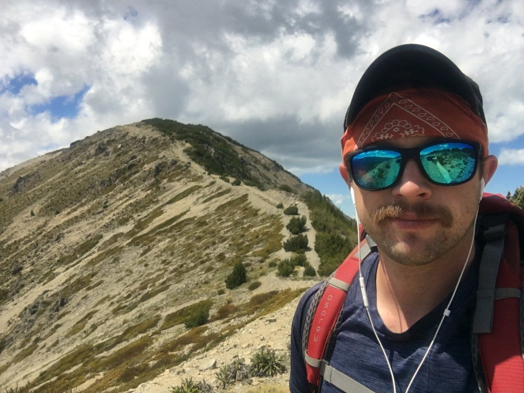 Me and my mustache nearing the summit