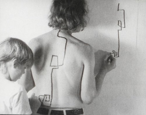 """Two Stage Transfer Drawing"" by Dennis Oppenheim"