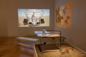Installation view of Markus Kayser section in Intimate Science exhibition at Miller Gallery at Carnegie Mellon University
