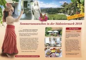 Programm 2018 - Tanzreisen in die Südsteiermark