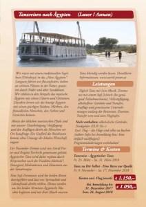 Programm 2018 - Tanzreisen nach Ägypten