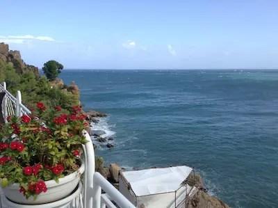 Sizilien Blick aufs Meer