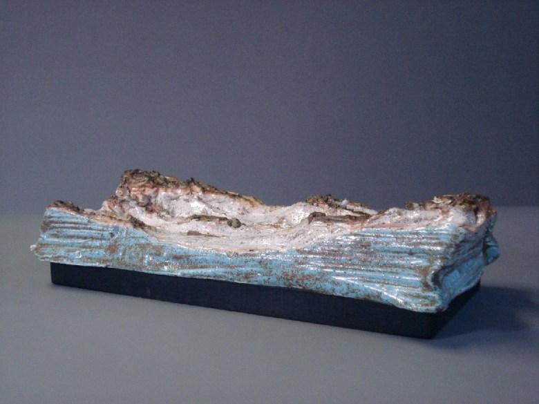 A Piece of Dunes (Schiermonnikoog), keramiek, 5 x 13 x 25 cm, 2007