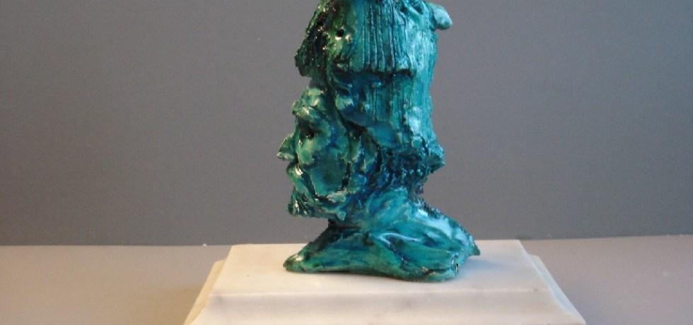 Tale-Tellers: Ziener, keramiek, 10 x 5 x 5 cm, 2009
