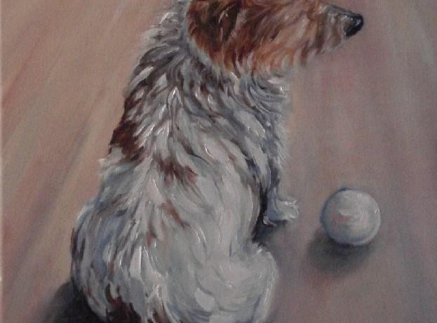 Roos, olieverf op canvas, 50 x 40 cm, 2009, VERKOCHT