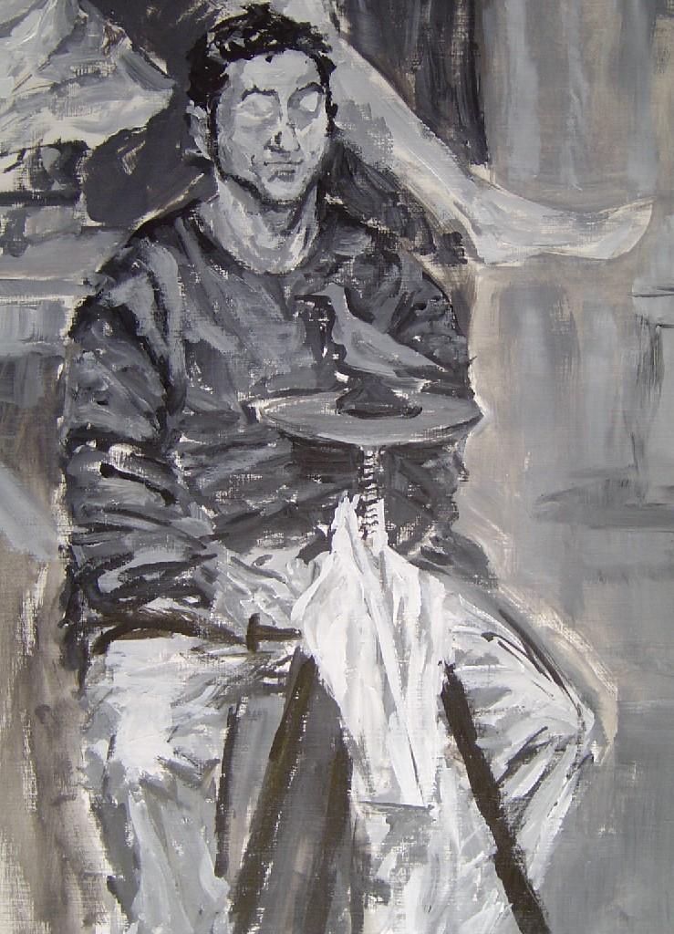 De Beeldhouwer, olieverf op canvas, 70 x 50 cm, 2004
