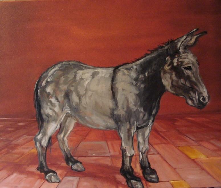 Ezeltje 1, olieverf op canvas, 50 x 60 cm, 2010