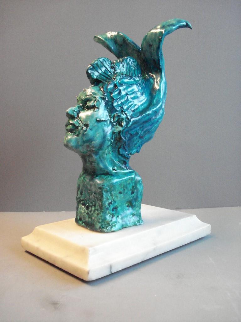 Tale-Tellers: Kwikzilver, keramiek, 15 x 6 x 10 cm, 2009
