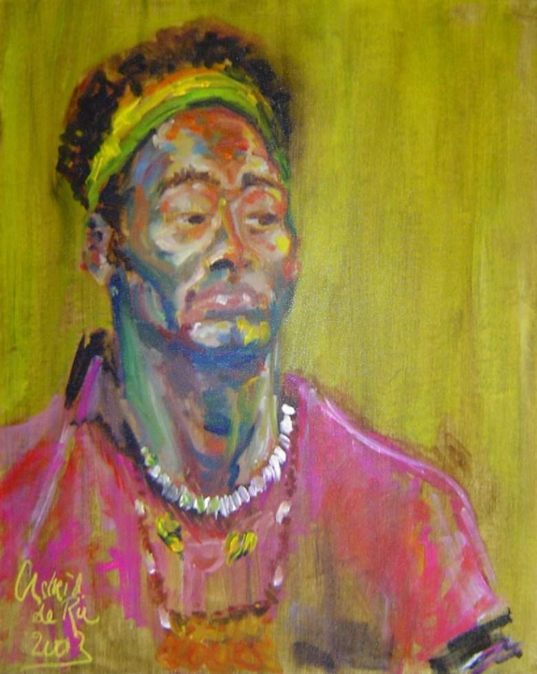 Voodoo man, olieverf op canvas, 60 x 50 cm, 2003