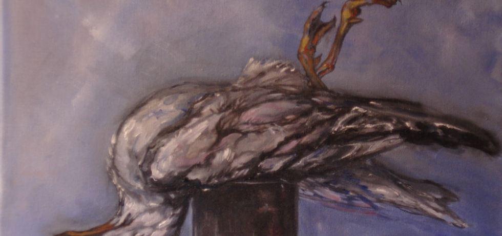 Vondeling, olieverf op canvas, 30 x 40 cm, 2009