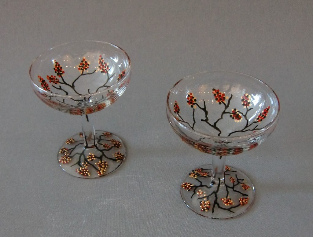 Glazen Wintertakjes, gebrandschilderd glas, 10 x 7 cm, 2013