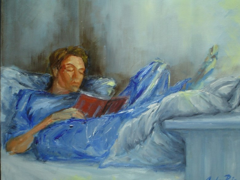 Zondag, olieverf op canvas, 40 x 40 cm, 2006
