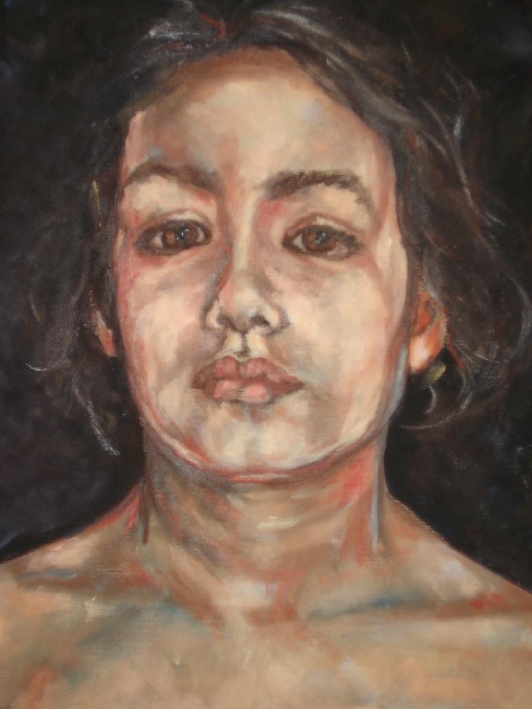 Jong I, olieverf op canvas, 50 x 40 cm, 2007, VERKOCHT