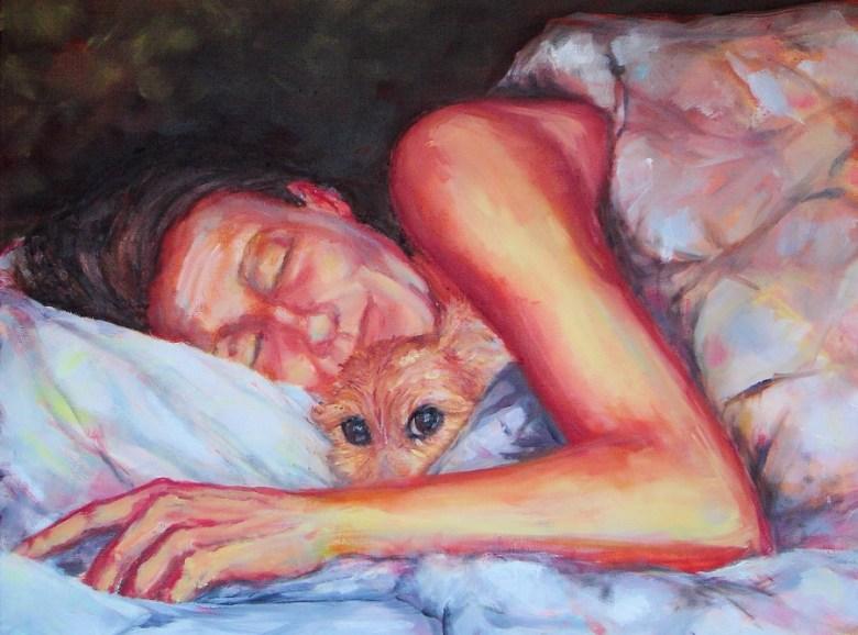 Wij, olieverf op canvas, 50 x 70 cm, 2007, VERKOCHT