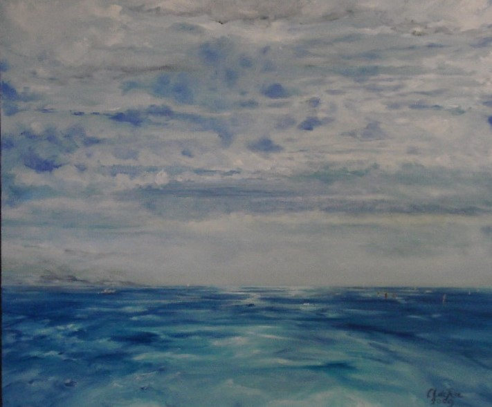 Windzoekers, olieverf op canvas, 60 x 50 cm, 2009