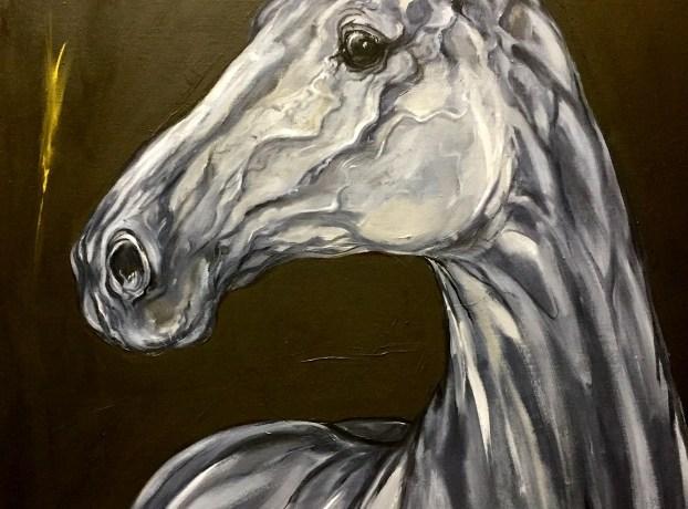 Portret Schimmel I, olieverf op linnen, 90 cm x 70 cm, 2015