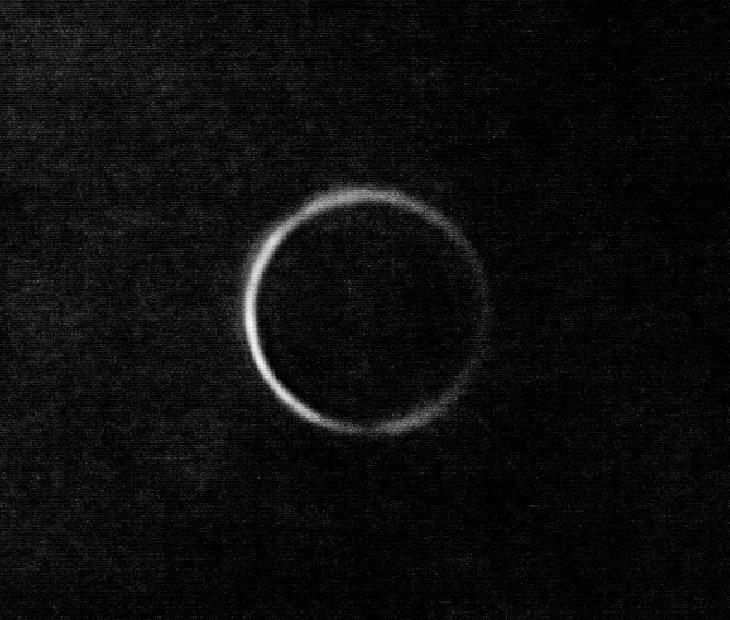 Venus, muy cerca de su conjunción inferior, captado desde Perth, Australia. Créditos de la imagen: Boyang Liu. Más información en este enlace.