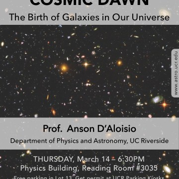 Cosmic Thursdays – Public Talk – March 14