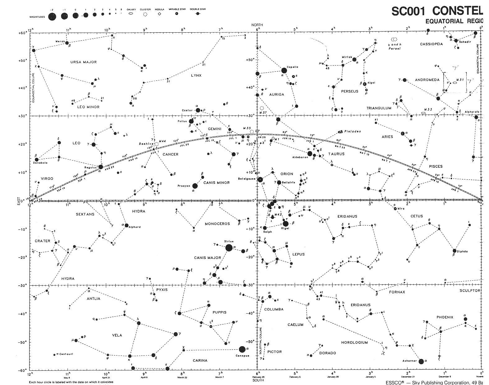 hight resolution of constellation map winter sky