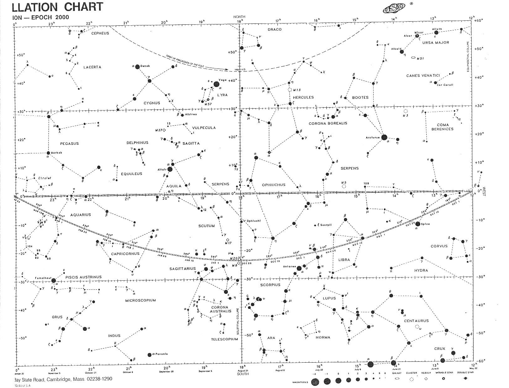 hight resolution of all 88 constellation boundaries