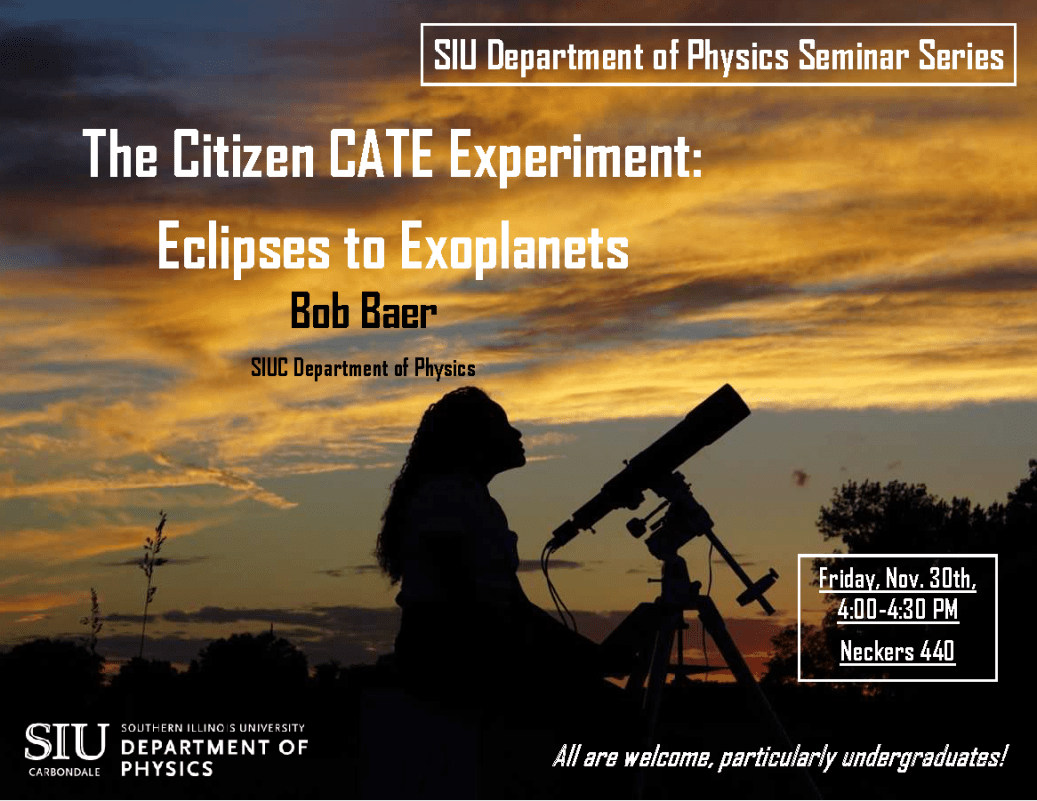 December 10th Monthy Meeting: Eclipses to Exoplanets