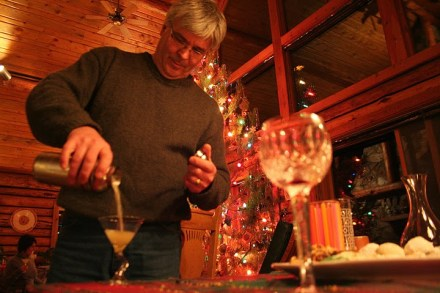 Dad made several rounds of ginger martinis, a perfrect after dinner drink.