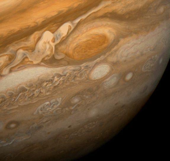 Jupiter Voyager 1. Courtesy of NASA.