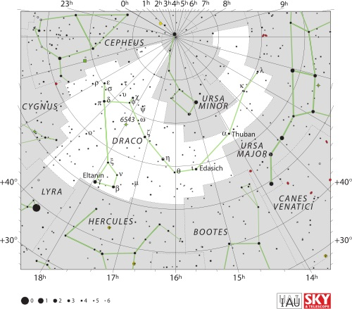 Draco Constellation Map