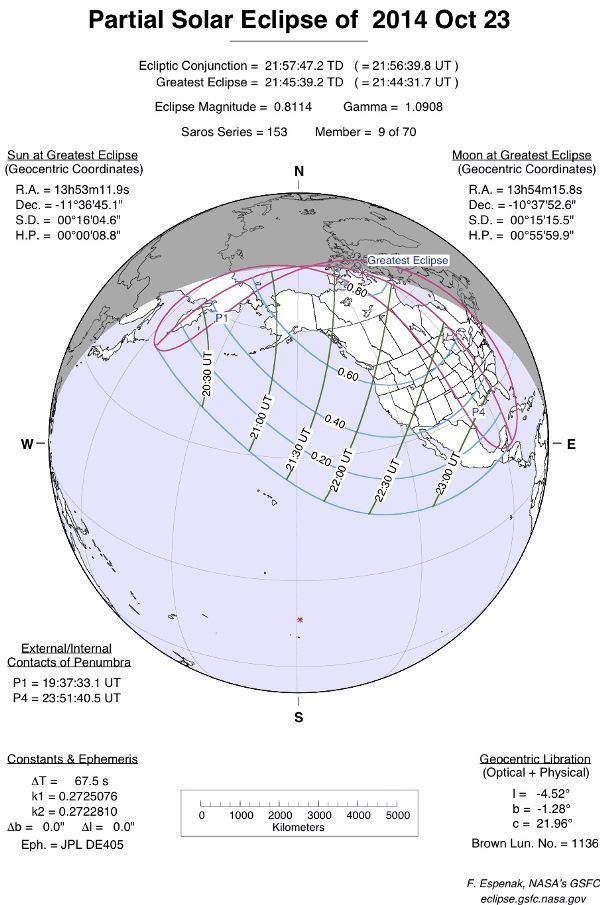 Partial Solar Eclipse 2014-Oct-23