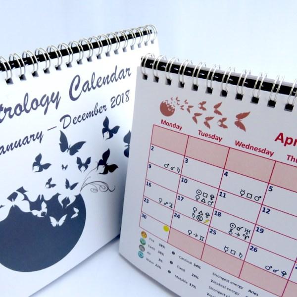 Astrology Desk Calendar 2018 April