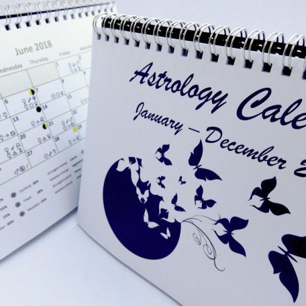 Astrology Desk Calendar 2018 June