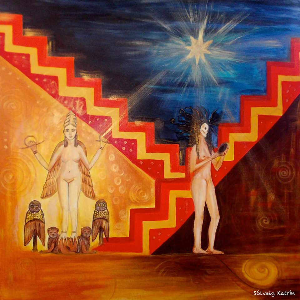 Venus Throws Herself At Waiting Arms Of >> Venus Descent Into The Underworld From Evening Star To