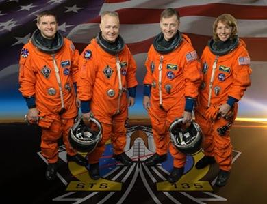 STS-135 crew portrait. NASA astronauts