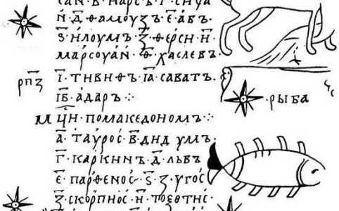 знаки Зодиака в Изборнике Святослава,астрология на руси, русская астрология, астрология картинки
