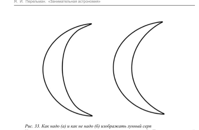 Как правильно рисовать Луну, астрономия Перельмана
