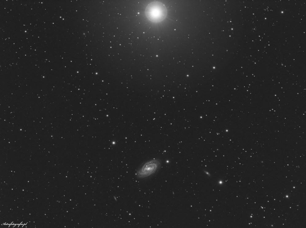 Galaktyka M109 w szerszym ujęciu....