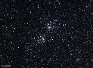 HiHa Persei Pentacon 300/4 @f:5 ISO800 6x180 sekund. Montaż Vixen GPD2. Zdjęcie zrobione na otarcie łez - tej samej nocy co poprzednia w galerii M33 - pomimo małej ilości ekspozycji i przy silnym wietrze oraz pomimo sporego chromatyzmu obiektywu wyszła ładna fotografia.