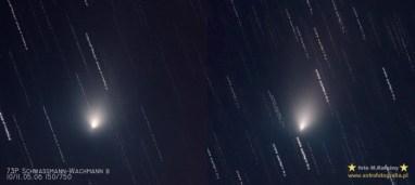 """Fragment B 20x45"""" ISO800 Celestron C6N + MPCC + GPD2 To zdjęcie pokazuje jak szybko się kometa zmieniała !"""