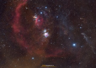 Konstelacja Oriona to jeden wielki kompleks mgławic.