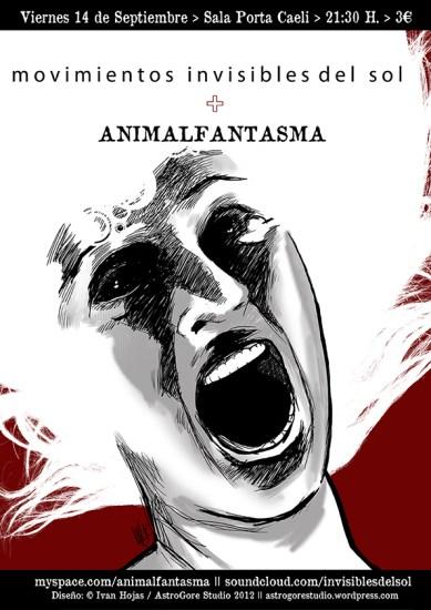 Cartel Movimientos invisibles del sol + Animalfantasma