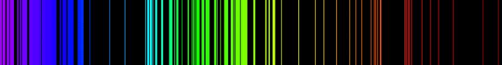 espectro del hierro