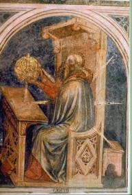 Mercurio, Giotto, Palazzo de la Regione de Padua, Italia,