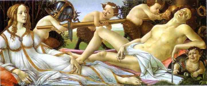 'Venus y Marte', Sandro Botticelli, 1483, National Gallery de Londres.
