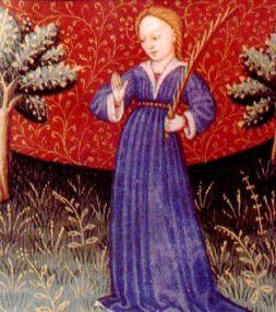 Virgo, reproducción de un libro de astrología medieval, siglo XV, autor desconocido