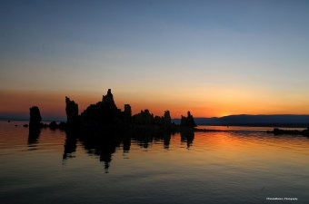 Sunrise at Mono Lake looking East
