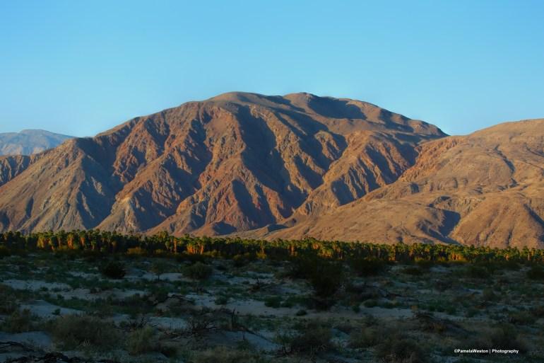 last sunlight hitting the mountains